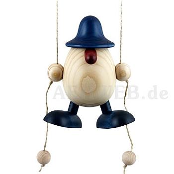 Eierkopf Arthur kletternd blau
