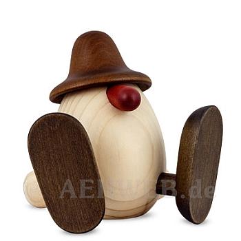Eierkopf Erwin sitzend braun