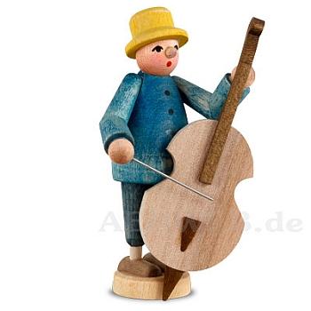 Musiker mit Bassgeige