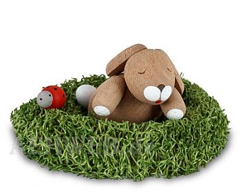 Häschen im Nest schlafend
