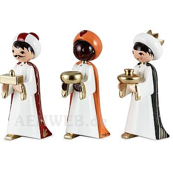 Heilige 3 Könige lackiert 7 cm Krippen