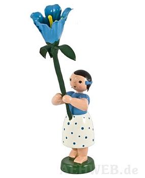 Feldblumenmädchen mit Glockenblume