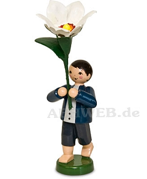 Boy with Chinese Sacred Lily
