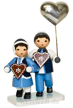 Pfefferkuchenpaar blau
