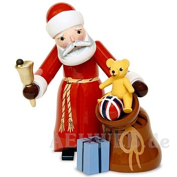 Weihnachtsmann mit Sack rot