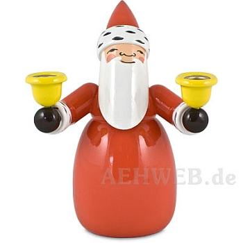 Santa Claus with candle holders