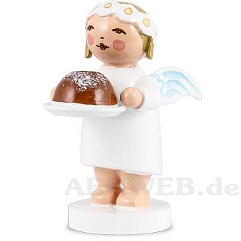 Gratulantenengel mit Kuchen