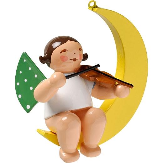 Engel mit Geige im Mond
