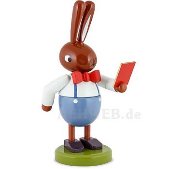 Großer Hase mit Buch 16 cm