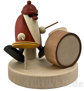 Weihnachtsmann mit Schlagzeug