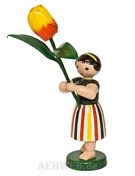 Sommerblumenmädchen mit Tulpe