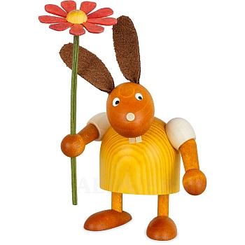Hase mit Blume gelb klein