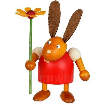 Hase mit Blume rot klein