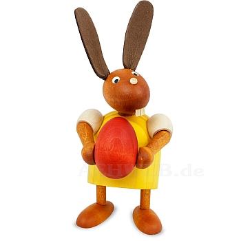 Hase mit Ei gelb klein