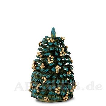 Weihnachtsbaum mit goldenen Kugeln 6 cm