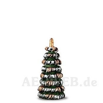 Bäumchen grün/weiß/gold 3 cm