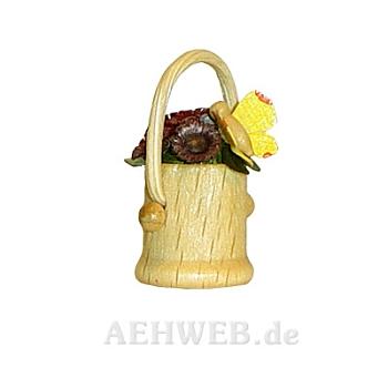 Blumenkorb mit Schmetterling gelb