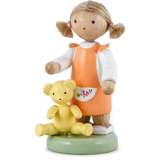 Mädchen mit Teddy
