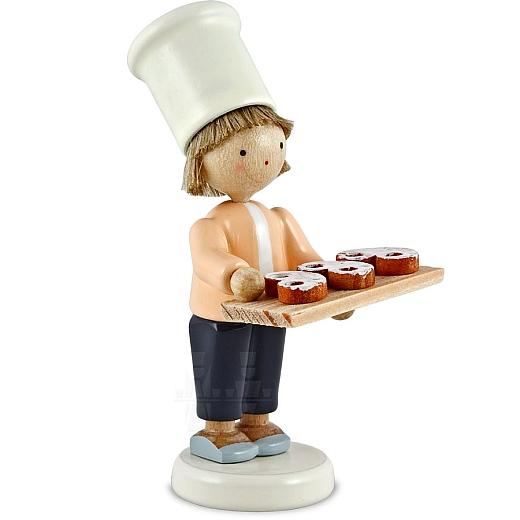 Kleiner Bäcker mit Brezeln