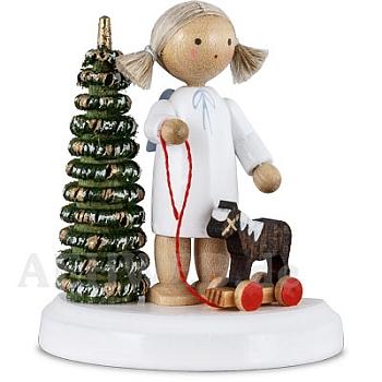 Engel am Weihnachtsbaum mit Pferdchen