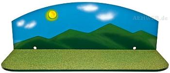 Sommerhintergrund mit Sockelplatte klein