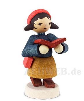 Kleines Mädchen mit Buch gebeizt