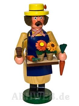 Räuchermann Gärtner mit Blumen