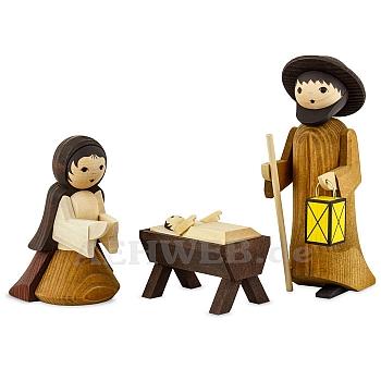 Heilige Familie 13 cm gebeizt