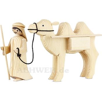 Kameltreiber und Kamel mit Paketen 13 cm natur