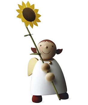 Schutzengel Größe 5 mit Sonnenblume