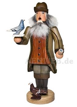 Räuchermann Bauer mit Tauben
