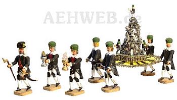 Erzpyramide mit 7 Barockbergleuten