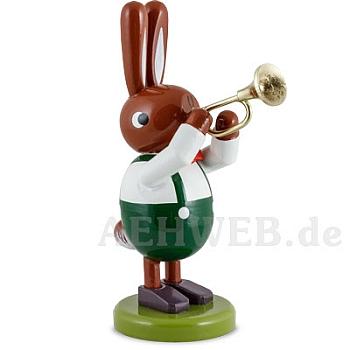 Hase mit Trompete 8 cm