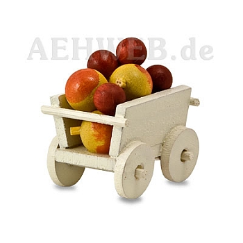Handwagen mit Äpfeln