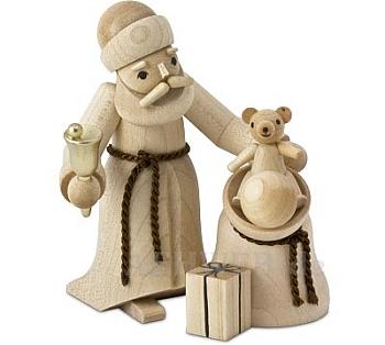 Weihnachtsmann mit Sack naturbelassen