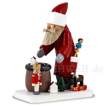 Weihnachtsmann mit erzgebirgischem Spielzeug