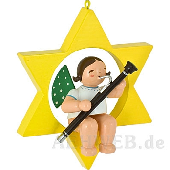 Angel with bassoon in a star