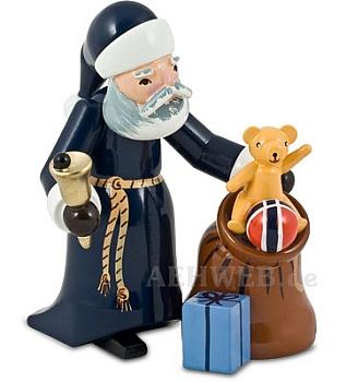 Weihnachtsmann mit Sack blau