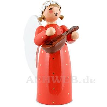 Engel mit Mandoline rot