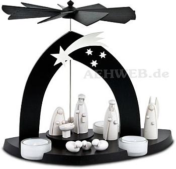 Black Pyramide Christgeburt mit Hirte und Engel