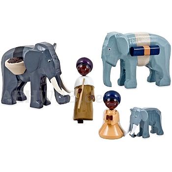 Elefantentreiber lackiert 7 cm Krippen