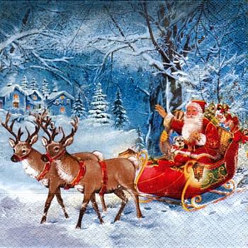 Serviette - Santa On Tour