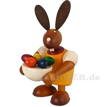 Maxi Hase mit Osternest, gelb