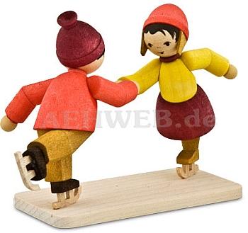 Eiskunstläuferpaar gebeizt