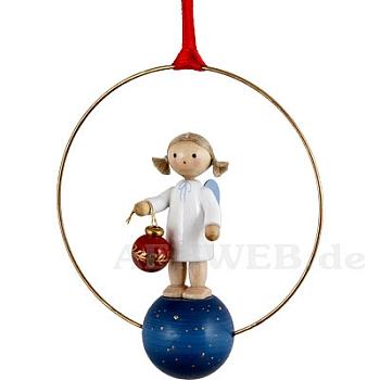 Weihnachtsschmuck Engel mit Christbaumkugel