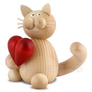 Katze Moritz mit Herz