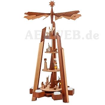Pyramide Geburt Rosenholz 4-stöckig