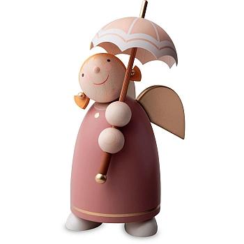 Schutzengel mit Schirm Rosenholz Größe 3