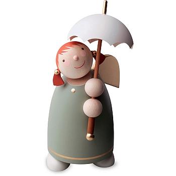 Schutzengel mit Schirm Grün Größe 3