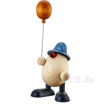 Eierkopf Otto mit Luftballon blau 15 cm
